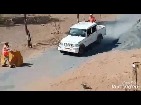 JHUNJHUNU CAMPAR STUNT   CAMPER ON ROAD OVER SPEED