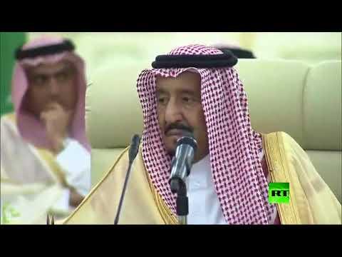 لحظة استقبال الملك السعودي سلمان لوزير الخارجية الأمريكي ورئيس الوزراء العراقي  - نشر قبل 2 ساعة