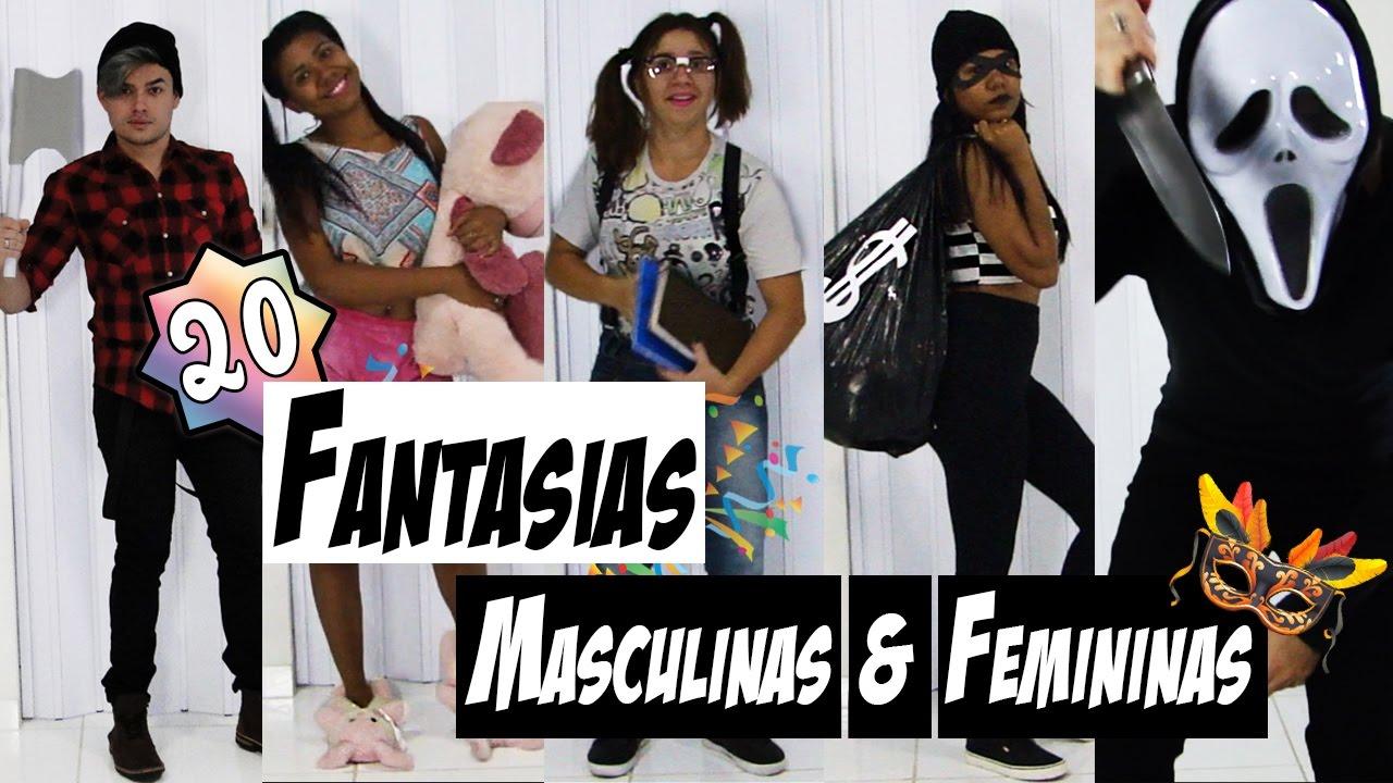 87769ab06 20 FANTASIAS DE ÚLTIMA HORA - Masculinas   Femininas ...