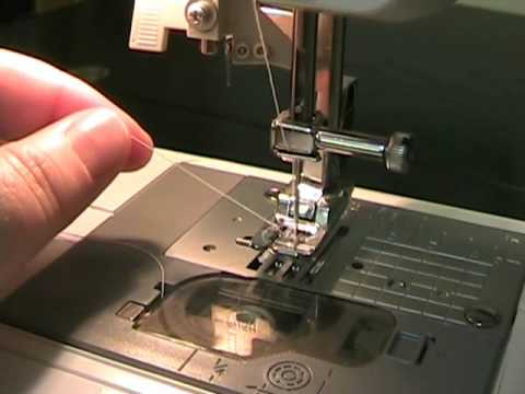 40 How To Bring Up The Bobbin Thread YouTube Simple How To Thread A Needle On A Sewing Machine