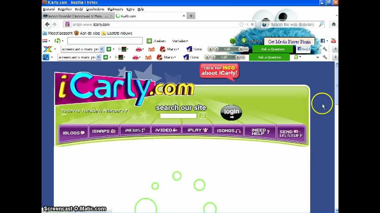 icarly com how get on the official site in different country's