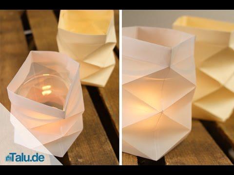 knickwindlicht f r teelichter aus papier basteln teelichthalter anleitung youtube. Black Bedroom Furniture Sets. Home Design Ideas