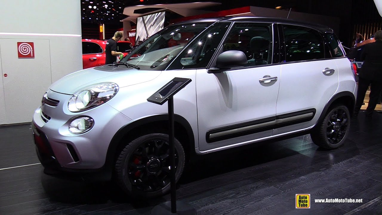 2017 fiat 500l trekking 1 6 diesel exterior and interior walkaround 2016 paris motor show. Black Bedroom Furniture Sets. Home Design Ideas