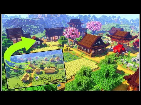 Japanese Village Transformation | Minecraft Timelapse