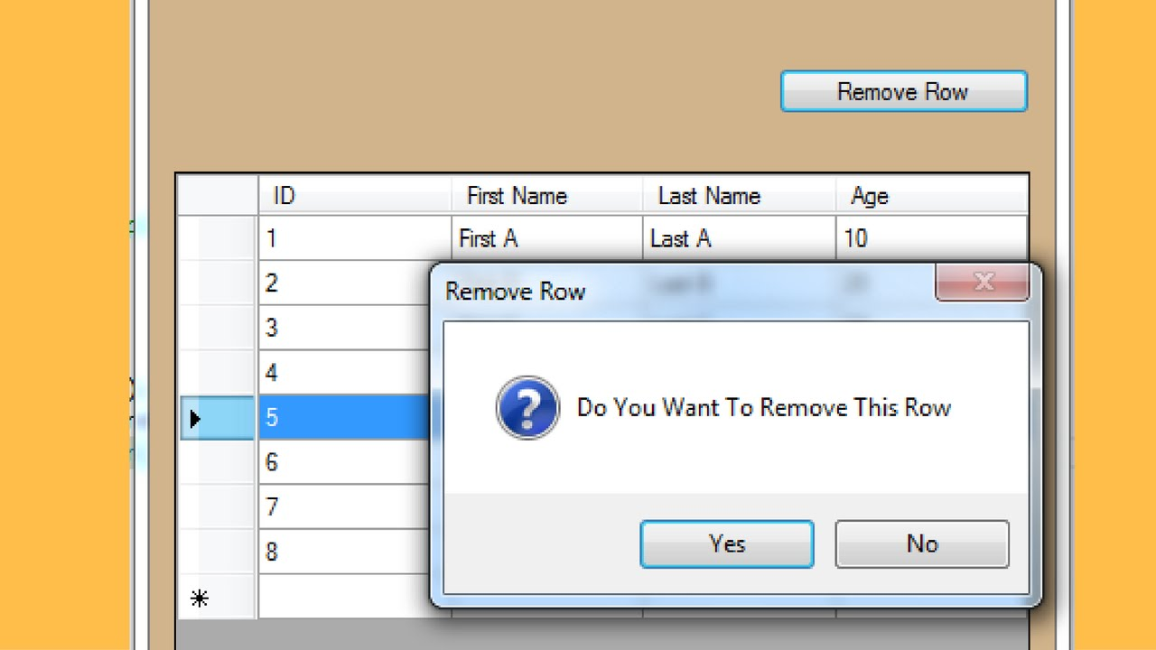 C# Tutorial - Show Confirmation Message Before Delete In C# [ with source  code ]