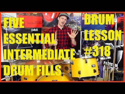 5 Essential Intermediate Drum Fills - Drum Lesson #318
