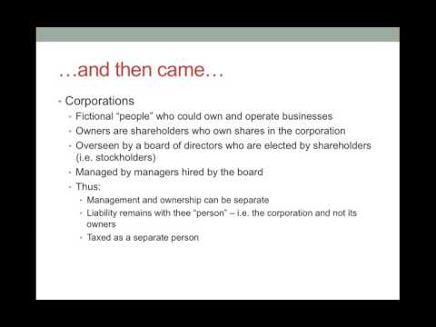 Business Organizations   Introduction