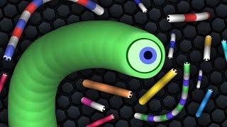 Slither.io - Детская мультяшная игра ПРО ЧЕРВЯКА! #2