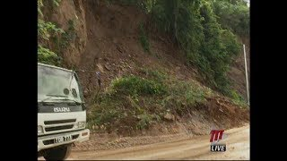 Lady Young Road Temporarily Closed After Landslide