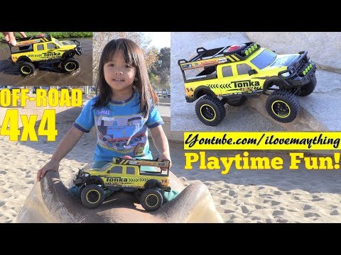 Toy Channel: A Toy Car for Kids! Tonka Pickup Truck Toy Playtime. Cash Register Toy Playset