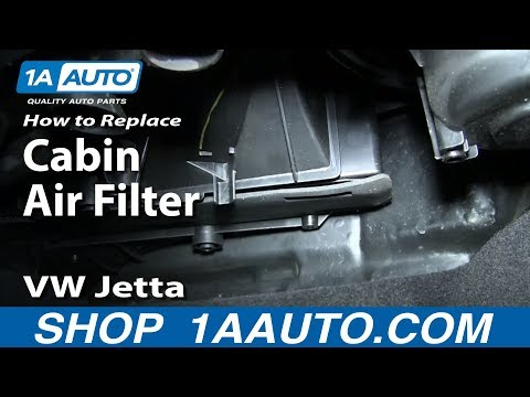 How to Replace Cabin Air Filter 05-17 Volkswagen Jetta