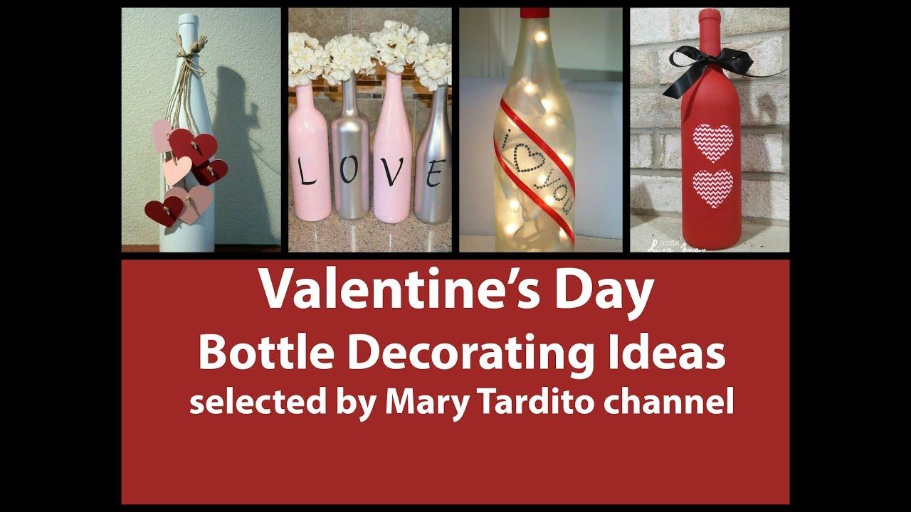 Glass decoration ideas - Valentines Bottle Decorating Ideas Diy Bottle Decorations Valentines Ideas