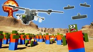LEGO ZOMBIE ALIEN APOCALYPSE CANYON BATTLE! - Brick Rigs Gameplay Challenge - Lego Zombie Survival