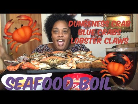 SEAFOOD BOIL 🦀🦀🦀|| BLUE CRABS 🦀 || DUNGENESS CRAB🦀|| MUKBANG | EATING SHOW