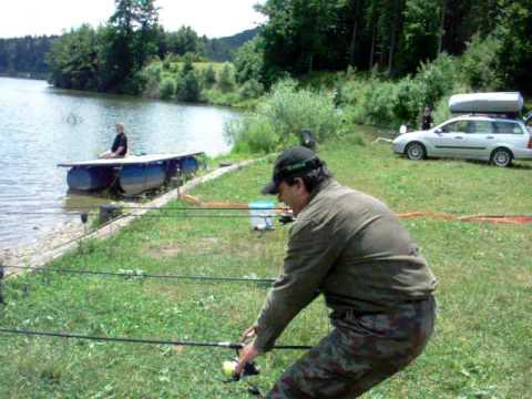 30lbs carp run on gopro camera doovi for Mighty mite fishing rod