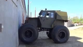 ЛЕЗЕТ НА СТЕНУ !!! (ХИЩНИК-29070)(Производство 4-х и 6-ти колесных вездеходов
