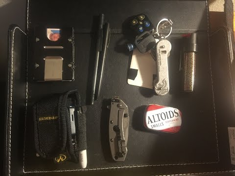 EDC Pocket Dump May 2016 Every Day Carry Leatherman Kershaw SOE Special Operations Equipment Altoids