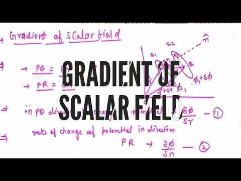 gradient of scalar field | gradient of scalar field in physics by deepak sharma