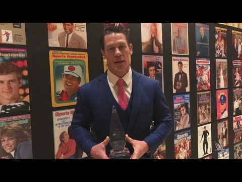 John Cena sends the Sports Illustrated Muhammad Ali Legacy Award to WWE Headquarters