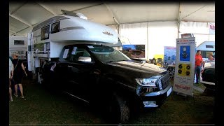 FORD RANGER XLT 4X4 PICK-UP CAMP CROWN MONO 8 CAMPER MODEL 2018 WALKAROUND + INTERIOR