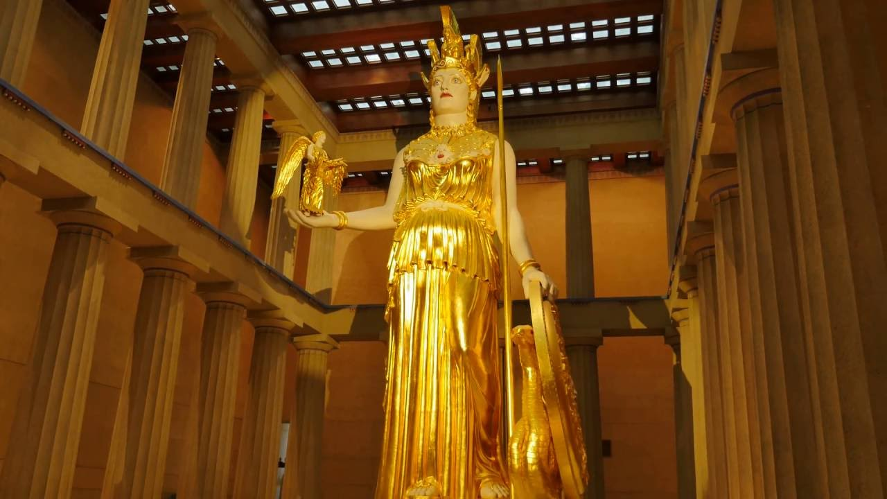 Chryselephantine statue of Athena The Parthenons main function was to provide shelter for the monumental chryselephantine made of gold and ivory statue of Athena that was created by Pheidias and dedicated in 438 BCE The statue stood approximately 9 or 11 meters around 40 ft tall