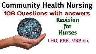 Community Health Nursing || Community Health Officer MCQs || Community Health || CHO