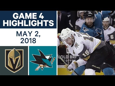 NHL Highlights | Golden Knights vs. Sharks, Game 4 - May. 02, 2018