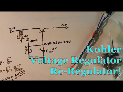 Kohler Voltage Regulator Re-Regulator! - YouTube