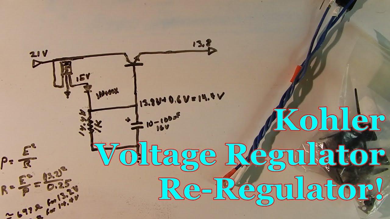 Kohler Voltage Regulator ReRegulator!  YouTube