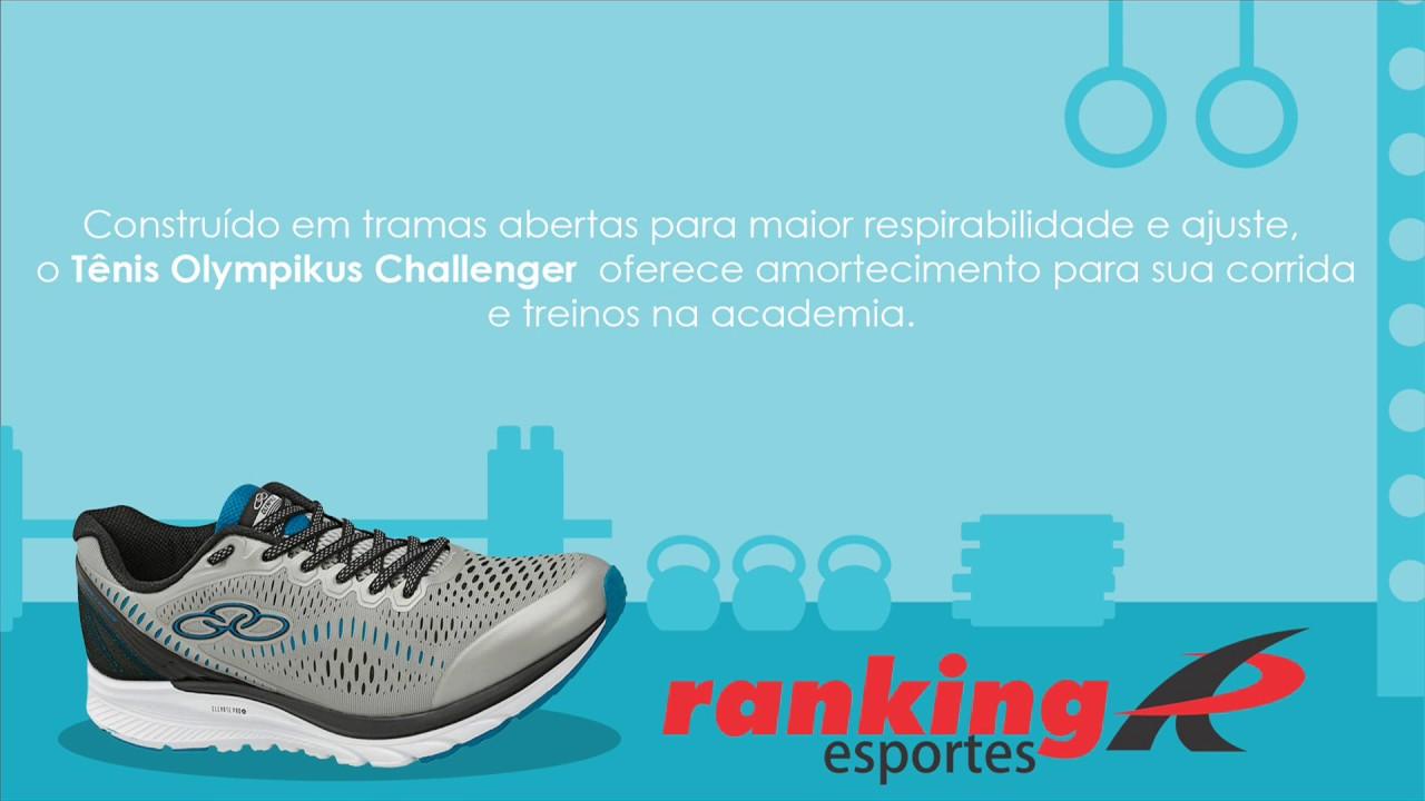 Ranking Esportes - Tênis Olympikus Challenger - YouTube 0e0de8a11e924