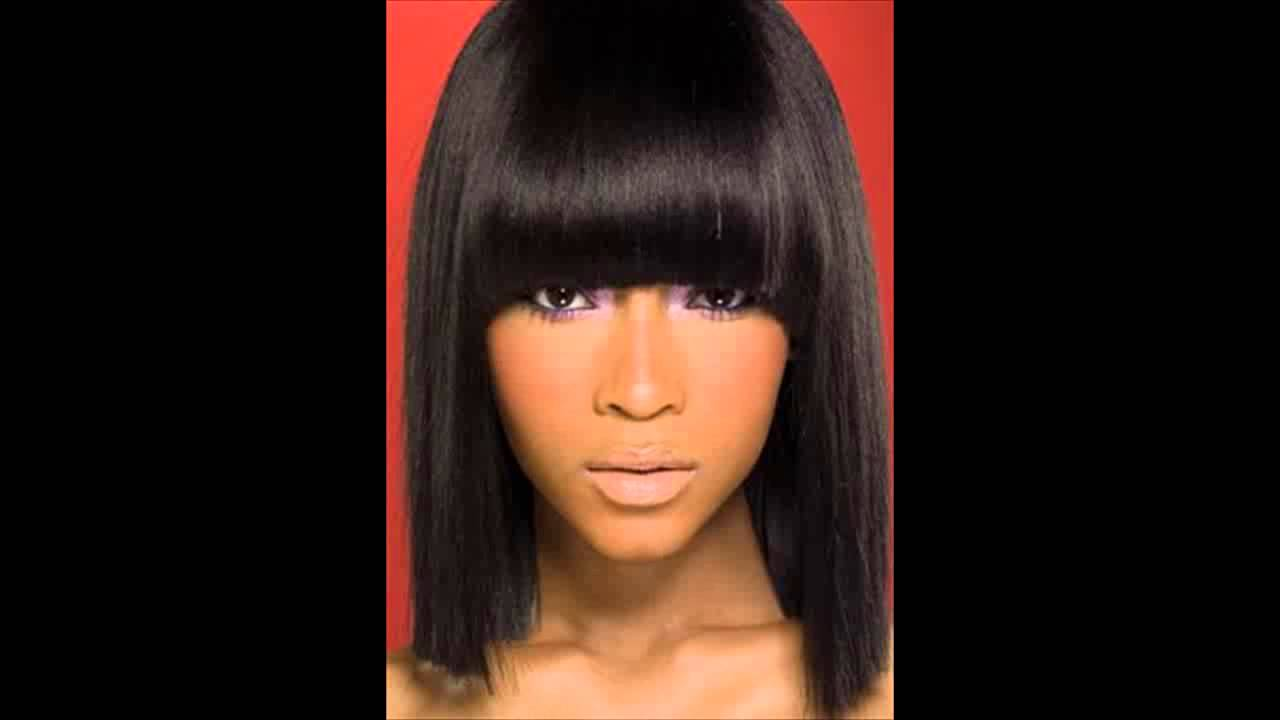 African American Long Hairstyles With Bangs Side Bangs Youtube