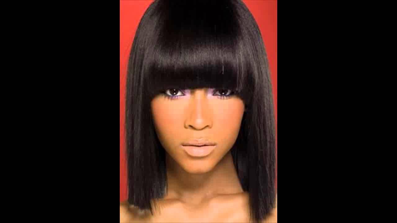 african american long hairstyles with bangs, side bangs
