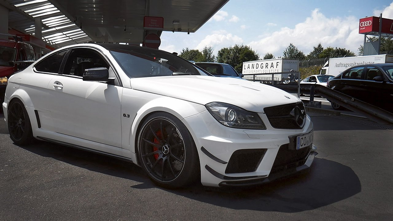 loud mercedes benz c63 amg black series custom exhausts youtube. Black Bedroom Furniture Sets. Home Design Ideas
