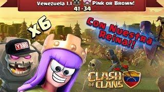 Venezuela 1.1 Vs Pink or Brown!   Ataques ★★★  Clash Of Clans