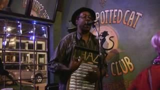 Washboard Chaz Blues Trio at the Spotted Cat in New Orleans