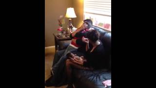 Son surprises Dad for Christmas by flying home!