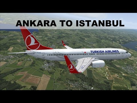 [FSX] SHORT FLIGHT ANKARA (LTAC) ISTANBUL (LTBA) | TURKISH AIRLINES B737 | IVAO LIVESTREAM