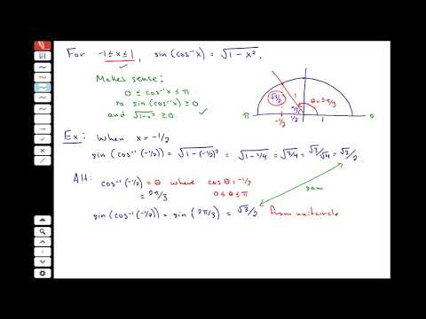 Compositions and Derivatives of Inverse Trigonometric Functions