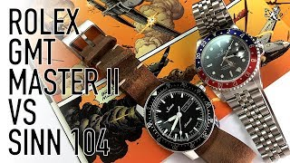Pilot Watch Duel - Sinn 104 Vs Rolex GMT Master II - The Best Under $1500 Compared To A Luxury Icon
