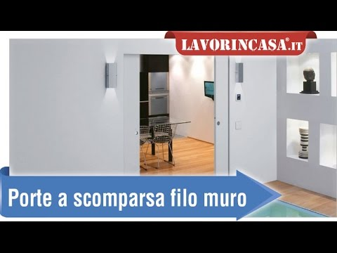 Porte a scomparsa filo muro - YouTube