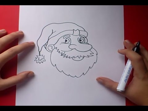 Como dibujar a papa noel paso a paso 4 | How to draw Santa Claus 4 Videos De Viajes