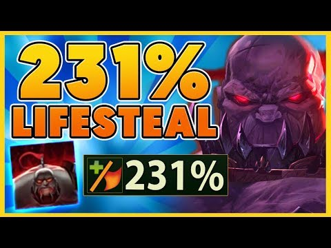 *231% LIFESTEAL* PERMANENTLY DEAD SION (DIE TO WIN) - BunnyFuFuu