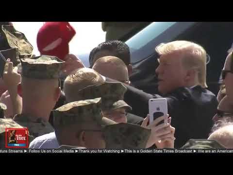 AMAZING: President Donald Trump meets and greets marines at Yuma Marine base in Arizona