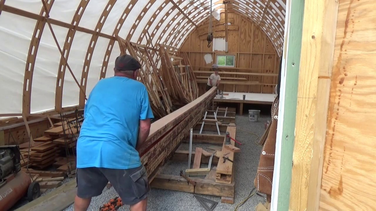 Lower keel final assembly and wood boat frames. SDP ep16. - YouTube