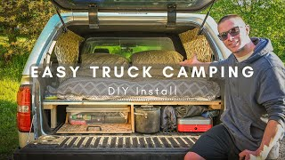 EASY truck camping install! - Start to Finish