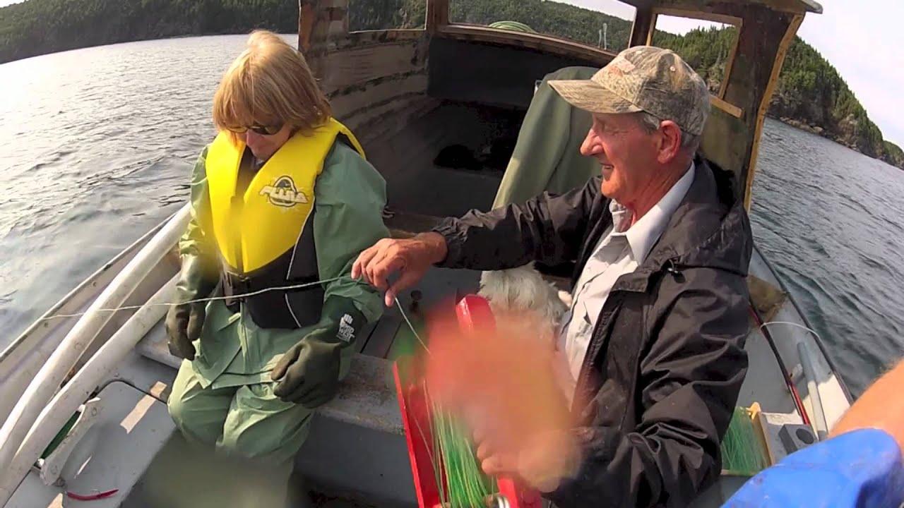 Cod fishing Newfoundland with GoPro Hero underwater scenes - YouTube