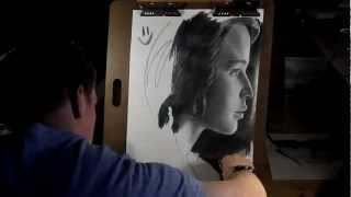 drawing katniss jennifer lawrence from the hunger games by donovan anderson