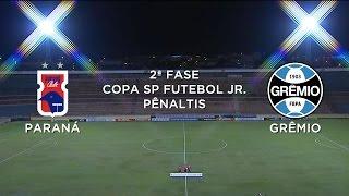 Pênaltis - Paraná Clube 9 x 10 Grêmio - Copa São Paulo Futebol Jr. - 13/01/2015