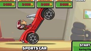 All Vehicles Unlocked Sports Car Hill Climb Racing 2