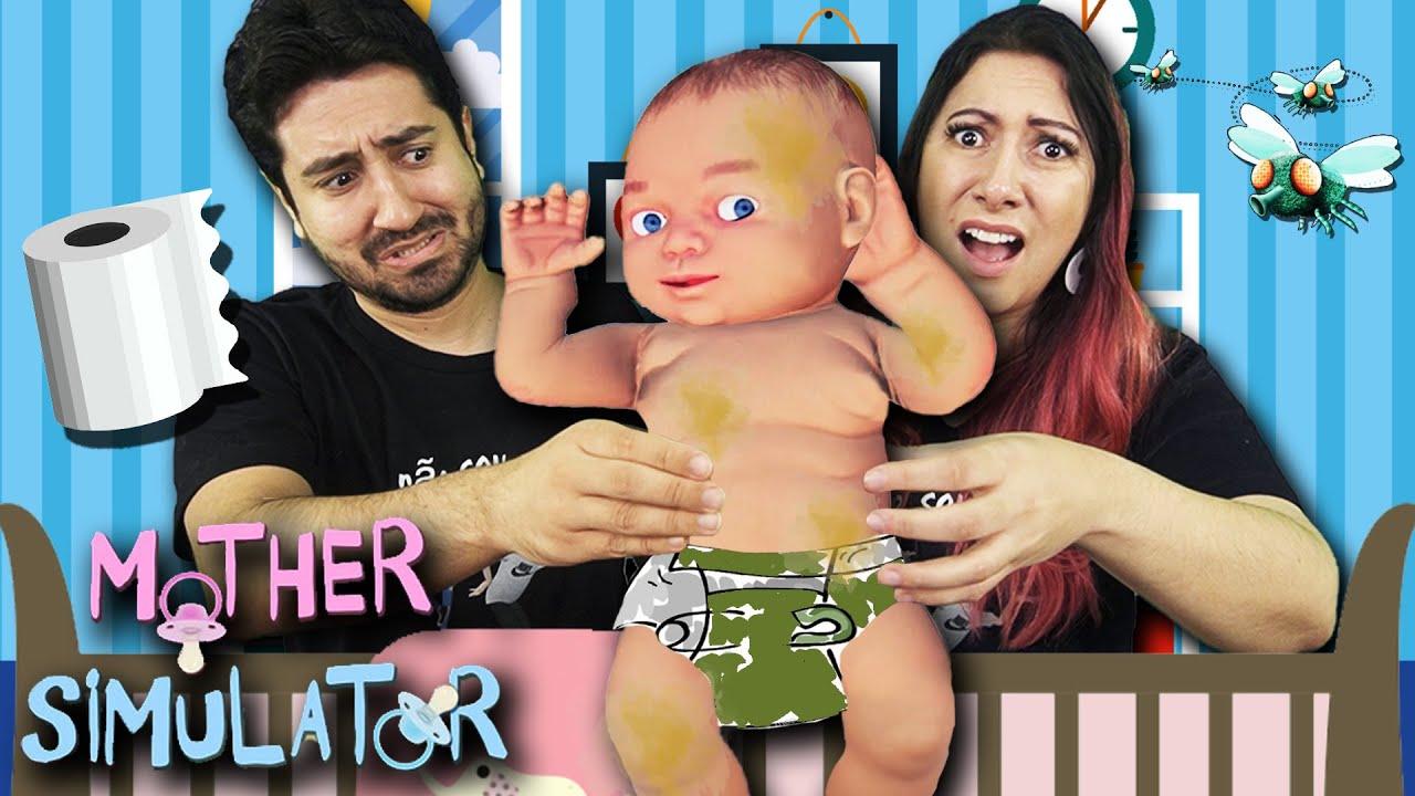 NOSSA ROTINA DE MÃE Trocamos o Bebê (Mother Simulator)